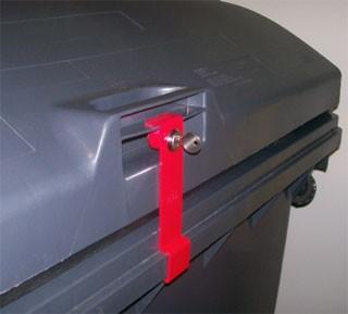 Müllcontainerverschluss 1100 Liter Weber - Deckel im Deckel
