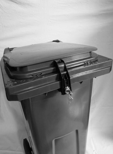 Mülltonnenverschluss 120/240 Liter Contenur-Behälter mit Griffleiste #1